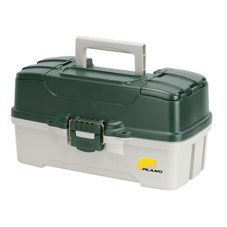 Netcraft Fishing Catalog - Plano Fishing, 3 Tray Tackle Box, Dual top access, Green/Off White
