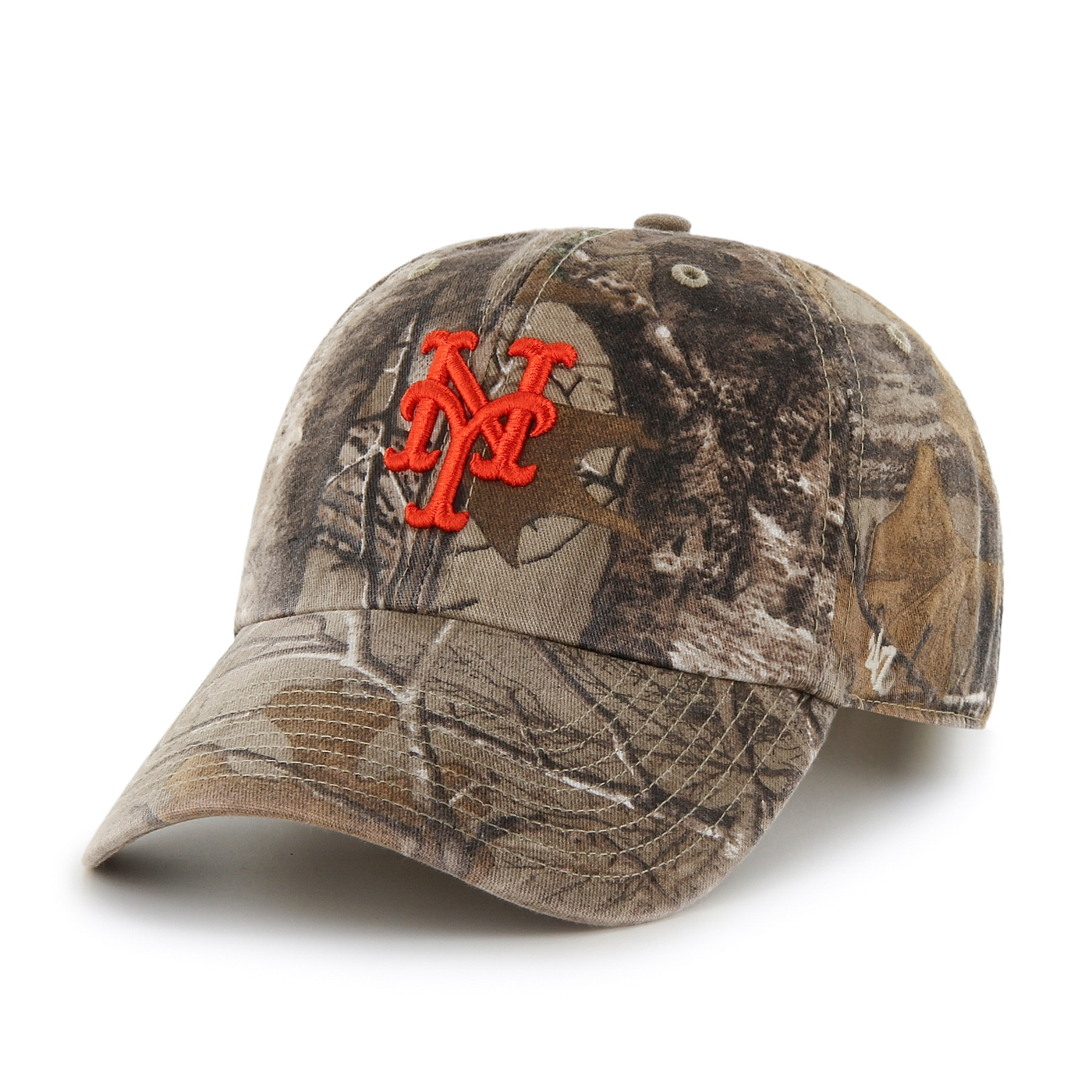 "New York Mets 47 Brand MLB ""Realtree Camo""  Adjustable Cotton Twill Hat"