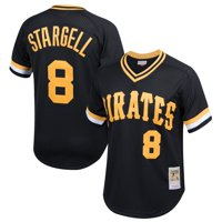 Willie Stargell Pittsburgh Pirates Mitchell & Ness Youth Cooperstown Collection Mesh Batting Practice Jersey - Black