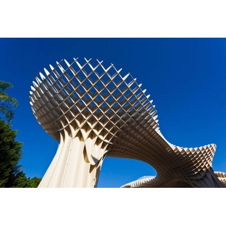 Mushroom structure, Metropol Parasol, Plaza De La Encarnacion, Seville, Andalusia, Spain Print Wall Art