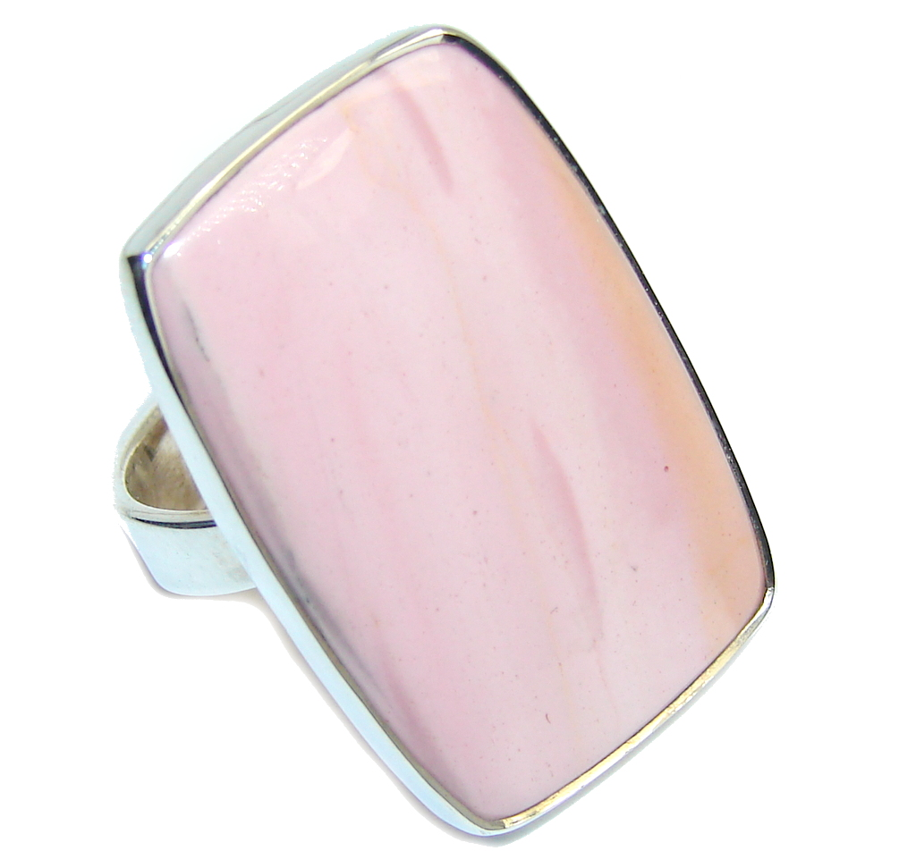 Amazing Light Pink Opal Sterling Silver ring s. 9 by SilverRush Style by