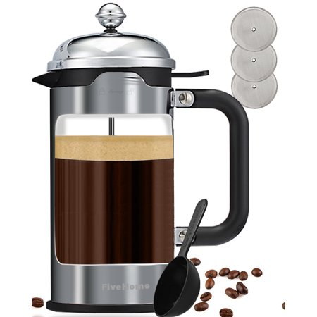 french press coffee maker 8 cup 34 oz fivehome luxury coffee tea makers with 304 grade. Black Bedroom Furniture Sets. Home Design Ideas
