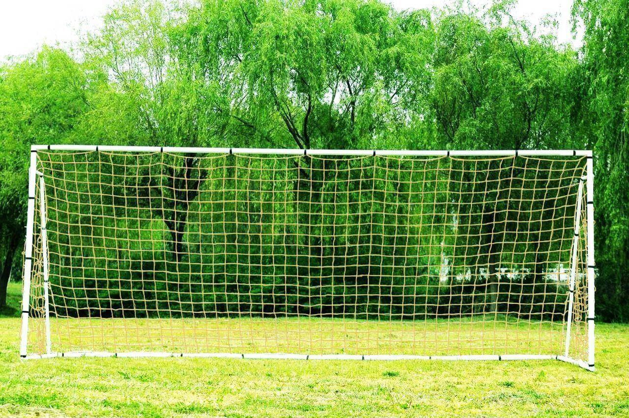 PASS 24 x 8 x 5 Ft. Official Size. Heavy Duty Steel Soccer Goal w Net. Regulation FIFA MLS League Size Goals.... by