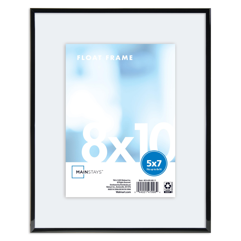 Mainstays 8x10 Flex Float Picture Frame In Black Walmart Com Walmart Com