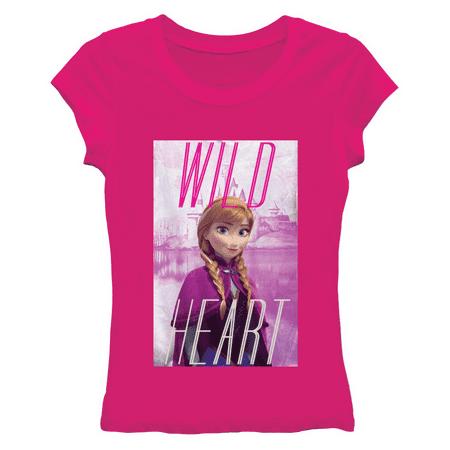 Disney Frozen Wild Heart Juniors Pink T-Shirt | L Heart Juniors Shirt