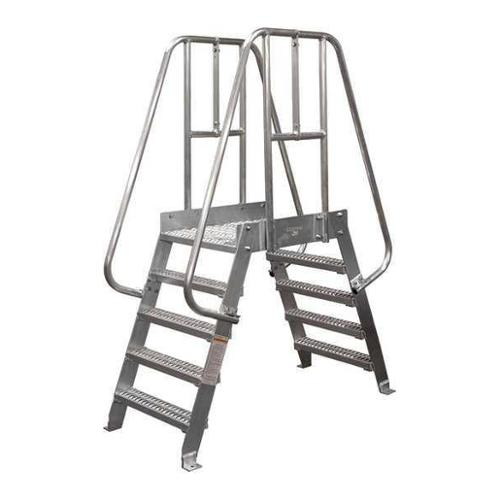 COTTERMAN 4SPA36A3C50P3 Crossover Ladder,4 Step,Aluminum,74In. H G1000347