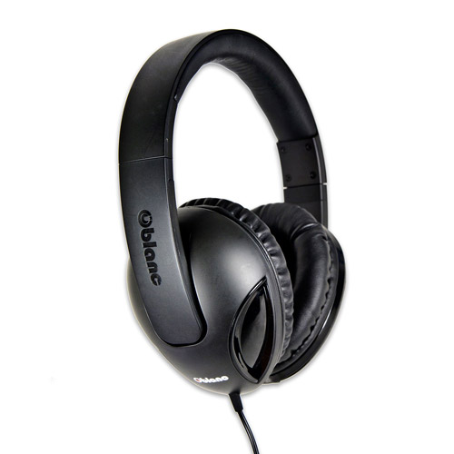 Oblanc Cobra with Massive 50mm Driver Audio Headphones and Invisible In-Line Microphone,