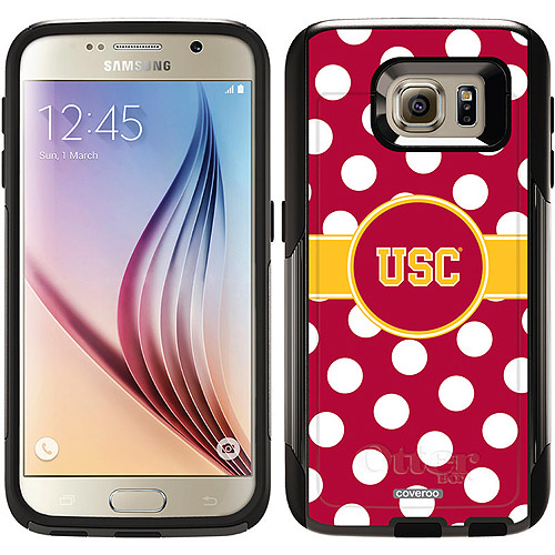 USC Polka Dots Design on OtterBox Commuter Series Case for Samsung Galaxy S6