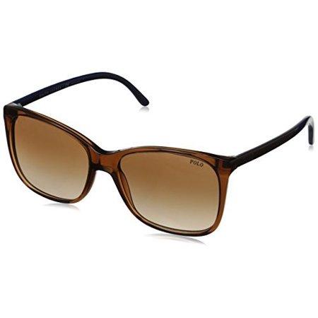 Polo Ralph Lauren Women's 0PH4094 Rectangular Sunglasses, Brown Gradient,Brown,Blue & Brown, 55 mm ()