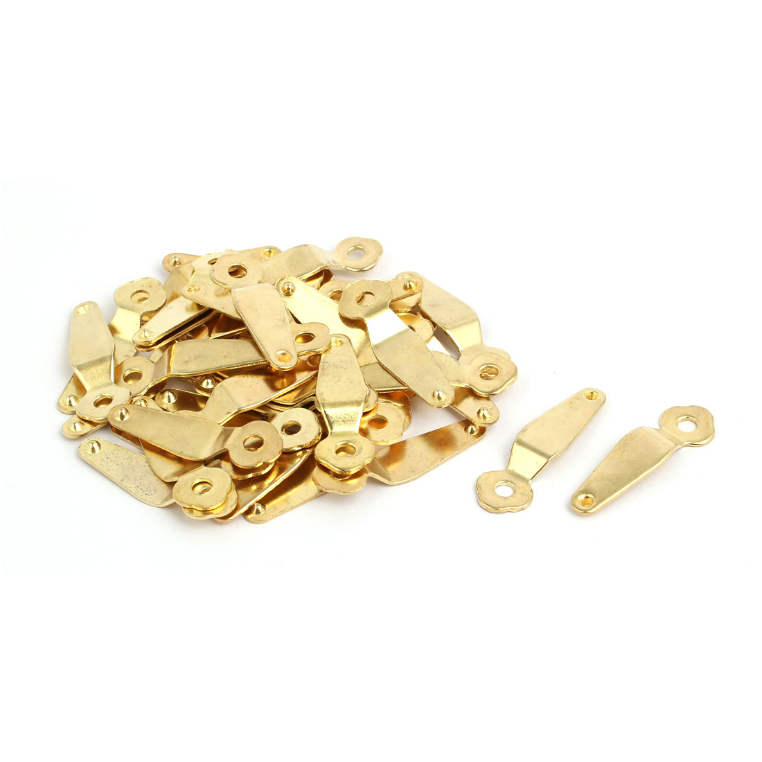 Uxcell 40pcs 40mmx12mmx1mm Picture Frame Turn Button Photo Turnbutton Gold Tone w Screw - image 4 of 4