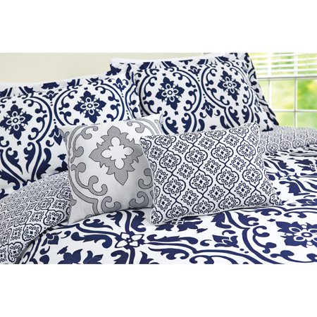 Better Homes And Gardens Indigo Scrollwork 5 Piece Bedding Comforter Set Best Comforter Sets