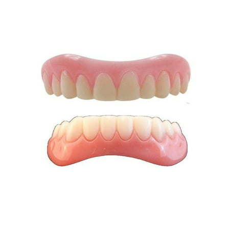 Instant Smile Teeth MEDIUM Top and Bottom Veneers 2 extra fitting beads (Billy Bob Teeth)