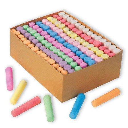 Jumbo Sidewalk Chalk - Giant Box of 126 Non-toxic Jumbo Sidewalk Chalk Sticks