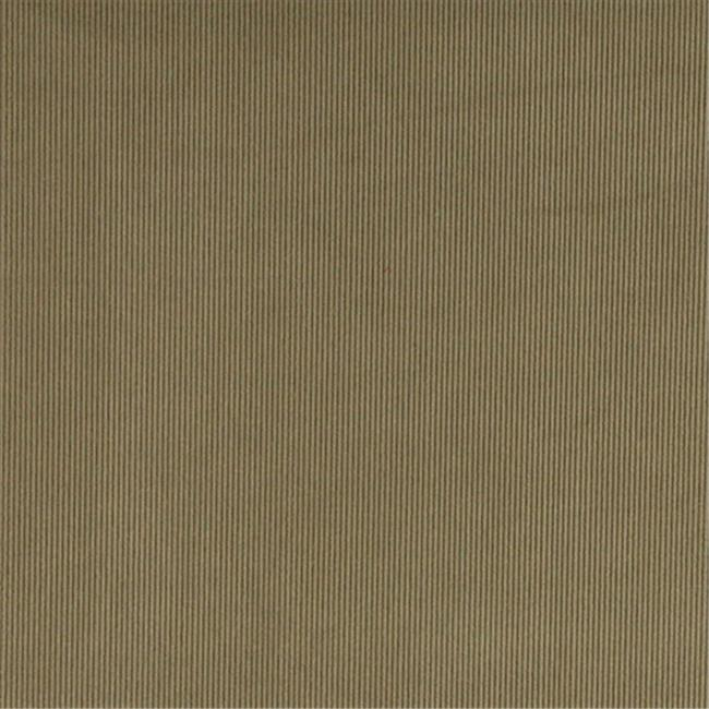 Designer Fabrics C180 54 in. Wide Green Thin Solid Corduroy Striped Upholstery Velvet Fabric