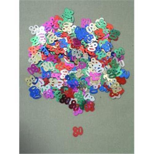 Party Deco 04080 10mm Multi 80 Confetti - Pack of 12