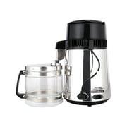 1 Gallon/ 4L Home Stainless Steel Water Distiller w/ Glass Bottle