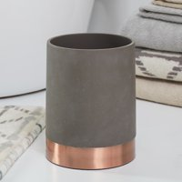 MoDRN Concrete with Copper Accent Wastebasket