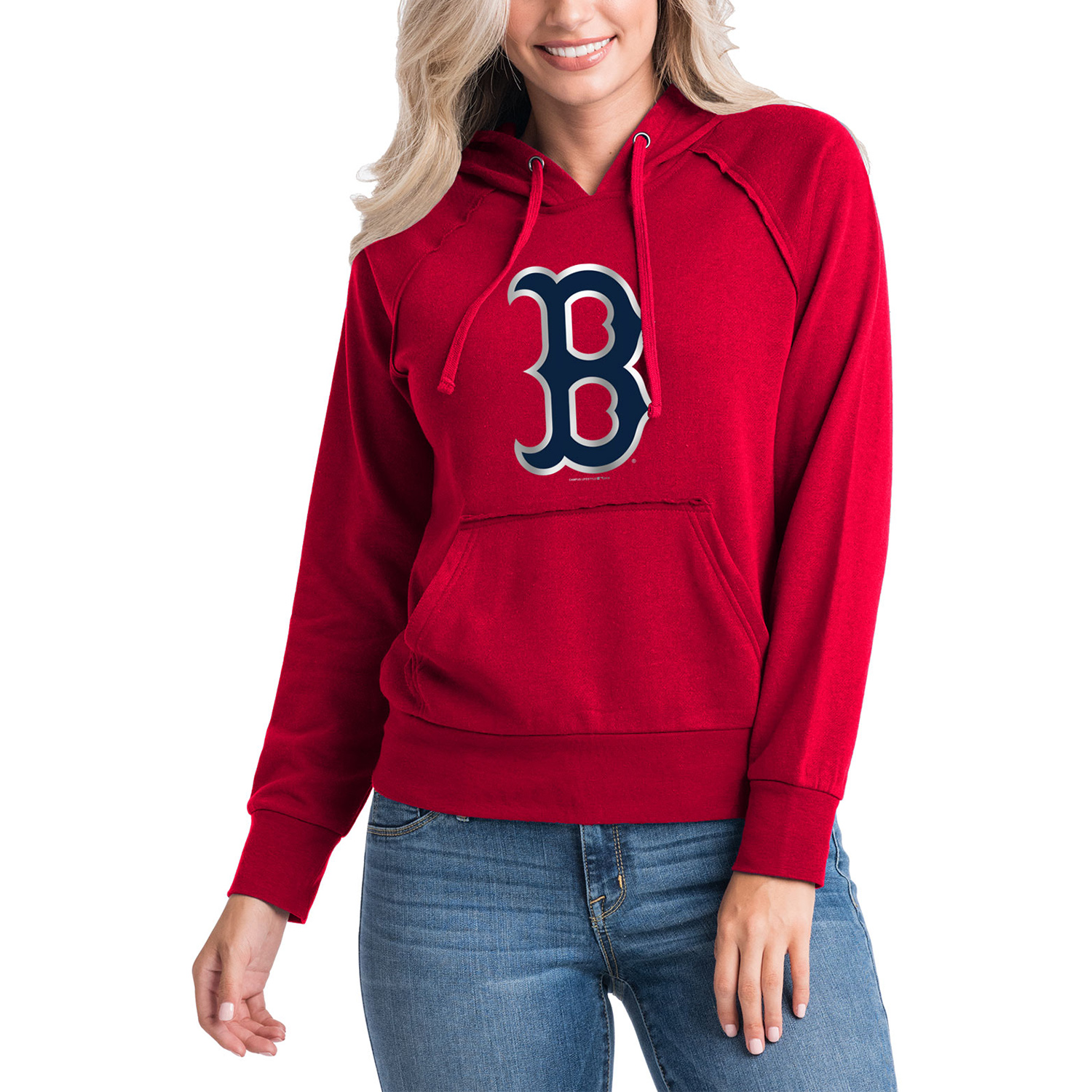 Women's 5th & Ocean by New Era Red Boston Red Sox Team Pullover Hoodie