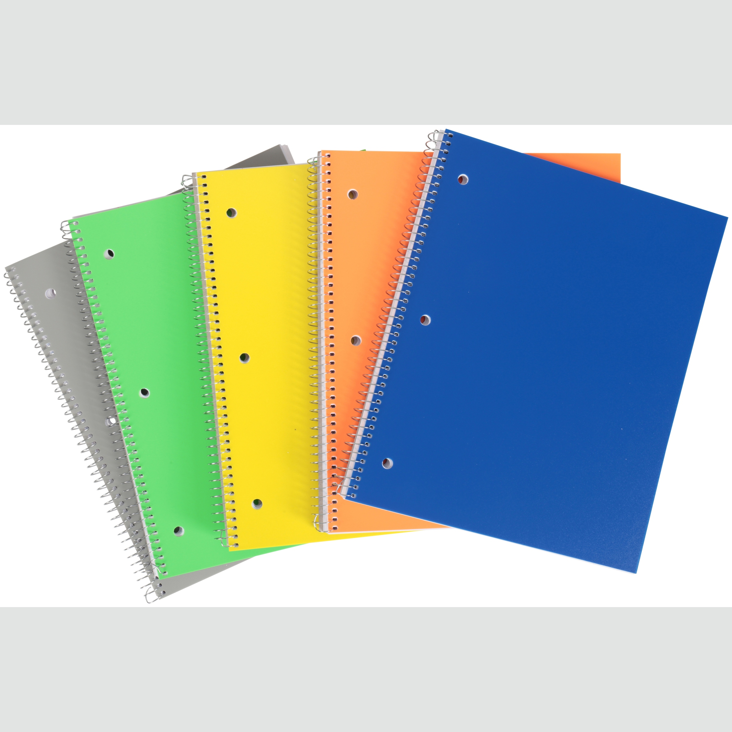 Pen + Gear 5 Pack of 100 Page Poly Notebooks (College Ruled)