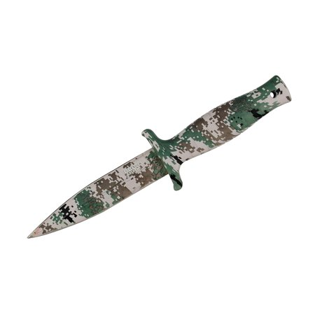 "9"" Defender Xtreme Woodland Camo Tactical Hunting Knife with Sheath"