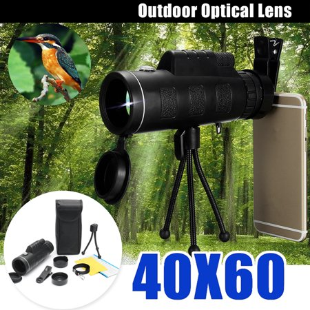 ❤️ Christmas Gift ❤️ 40x60 HD Waterproof Universal Phone Telescope,Focus Zoom Optical Lens Monocular Telescope+Tripod + Mini Clip for Outdoor Bird Watching Hunting Traveling thumbnail