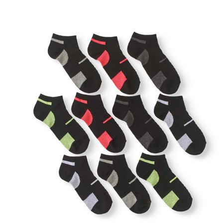 P10 Women's No Show Socks Assorted Colors, 10 Pack