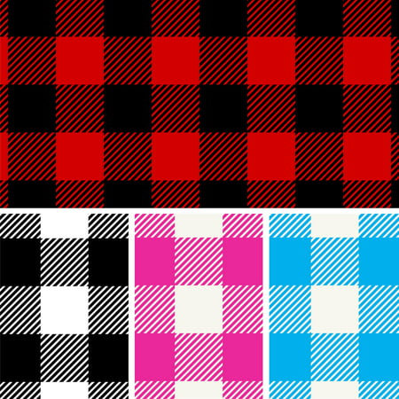 David Textiles Anti-Pill Fleece Pre-Cut Buffalo Plaid Fabric, per Yard
