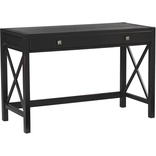 Linon Anna Desk, Antique Black, 47 inches Wide