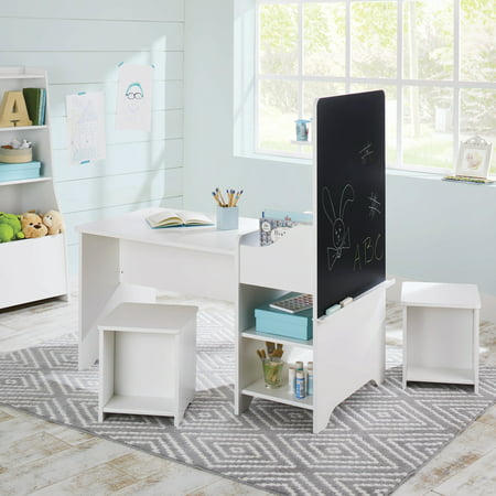 Better Homes & Gardens Cartwheel Activity Center with Chalkboard, White Finish Board Books Case Pack