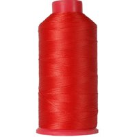 Threadart Heavy Duty Bonded Nylon Thread - 1650 yards (1500m) - Coated No Unravel - #69 T70 Size 210D/3 - For Upholstery, Leather, Weaving Hair, Denim, & More - 26 Colors Available - Red-Orange