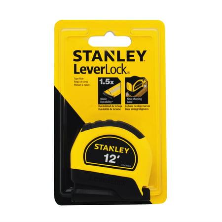 Stanley Bostitch Long Tape Measure - STANLEY STHT30810 12-Foot LeverLock Tape Rule