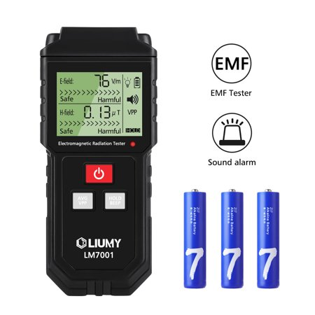 LIUMY EMF Meter Electromagnetic Field Radiation Detector Handheld Mini LCD EMF Detector Dosimeter with Sound-Light