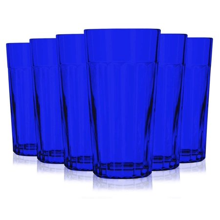 Libbey Blue Jumbo Cooler Glass with 16 oz Capacity - Additional Vibrant Colors Available by TableTop