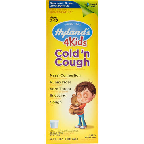 Hyland's 4 Kids Cold and Cough Relief Liquid, Natural Relief of Common Cold Symptoms, 4 Ounces