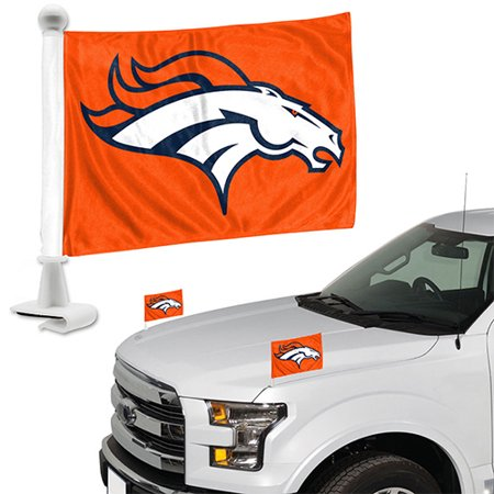 Denver Broncos Auto Ambassador Flag Set - No Size