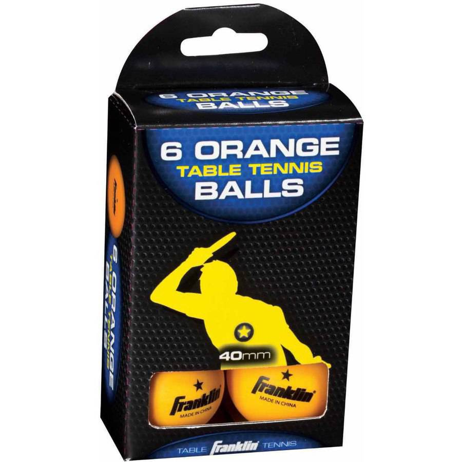 Franklin Sports 40mm 1 Star Orange Table Tennis Balls