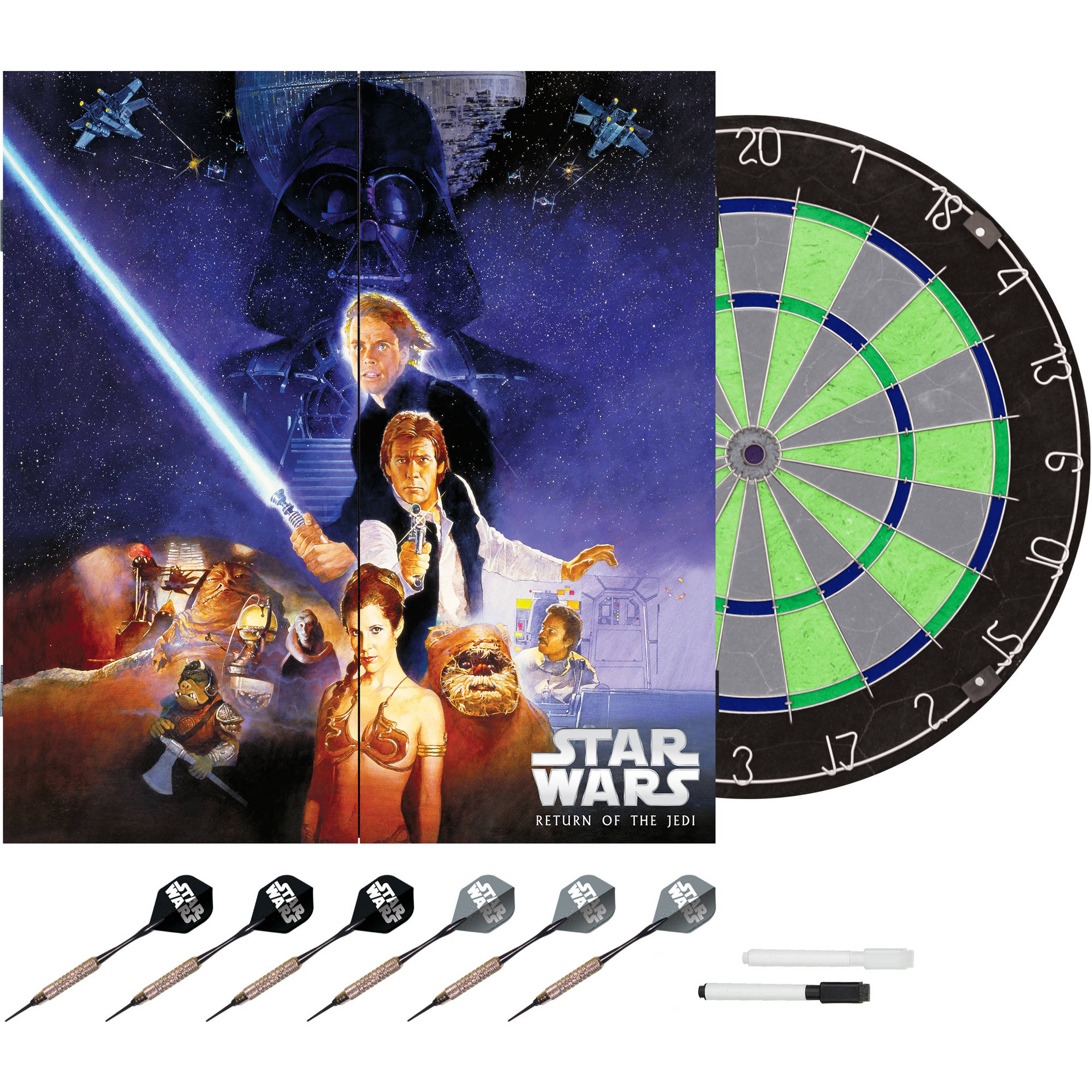 Limited Edition Star Wars The Return of the Jedi Bristle Dartboard with Cabinet