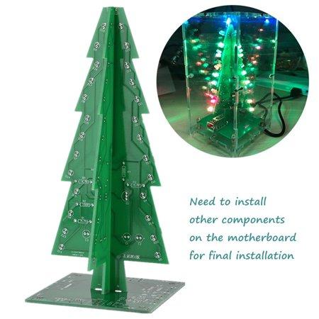 WALFRONT DIY 3D Christmas Tree Kit Christmas Gifts Flash Colorful LED  Lights Music Play, DIY Christmas Tree, LEDLights Christmas Tree