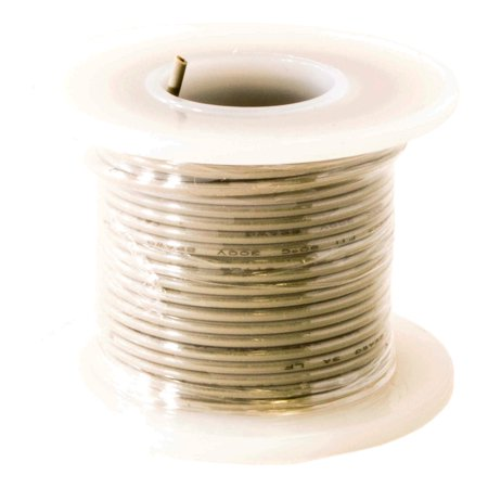 Hook Up Wire 22 Gauge Solid (25' / Gray)