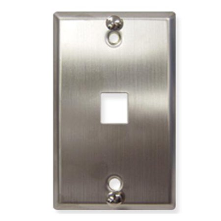 Icc 1-port Stainless Steel Flush Telephone Wall Plate - 1 Socket[s] - 1-gang - Stainless Steel (ic107ffwss)