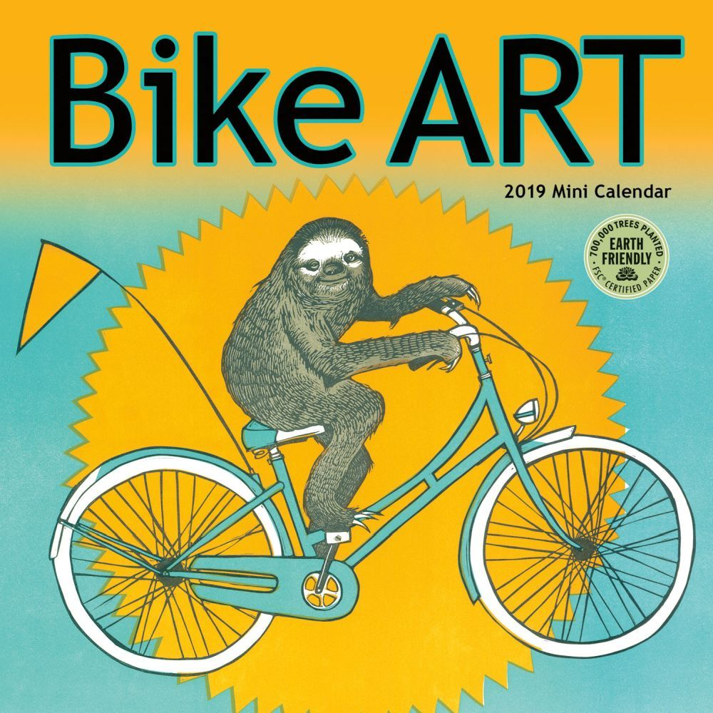 2019 Bike Art 2019 Mini Wall Calendar, Cycling by Amber Lotus