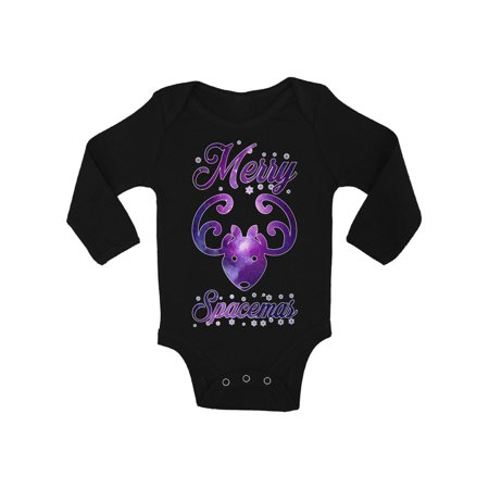 Awkward Styles Ugly Xmas Baby Outfit Bodysuit Merry Spacemas Christmas Baby Romper