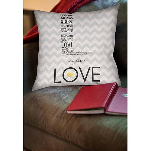 Thumbprintz L is for Love Indoor Pillow