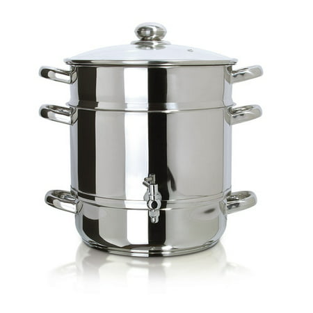 Wood Stove Steamer - Euro Cuisine Stainless Steel Stove Top Steam Juicer