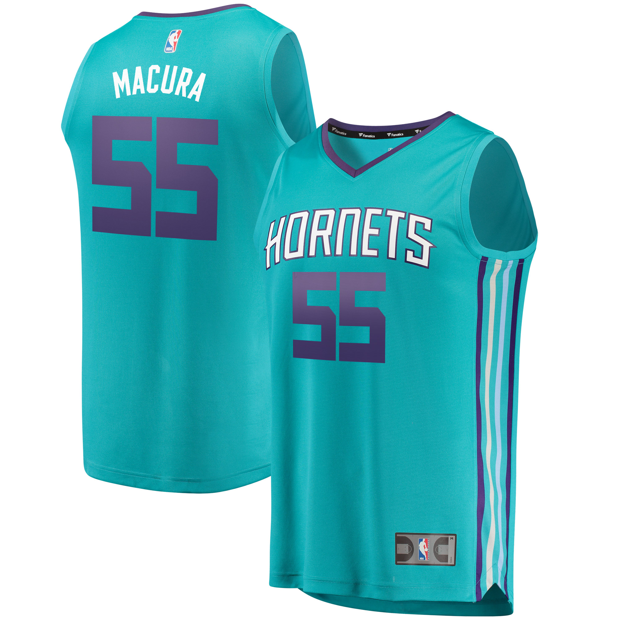 J.P. Macura Charlotte Hornets Fanatics Branded Fast Break Replica Jersey - Icon Edition - Teal