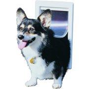 Ideal Thermoplastic Pet Door White, Medium for pets to 35 lbs.