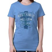 My Redeemer Lives Christian T Shirt | Jesus Christ God Savior Ladies T-Shirt