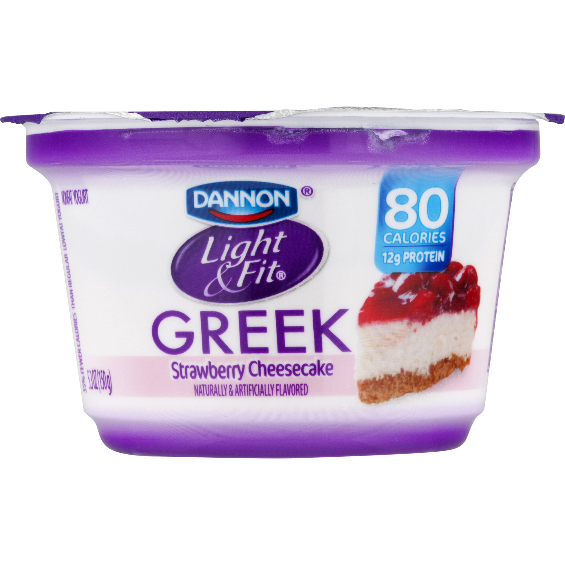 dannon light & fit greek strawberry cheesecake nonfat yogurt, 5.3 oz