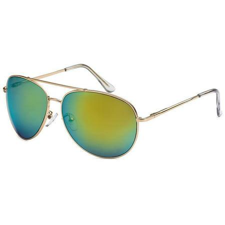 Retro 80's Fashion Aviator Sunglasses Black Brown Men Women Vintage Glasses 80's Retro Aviator Sunglasses