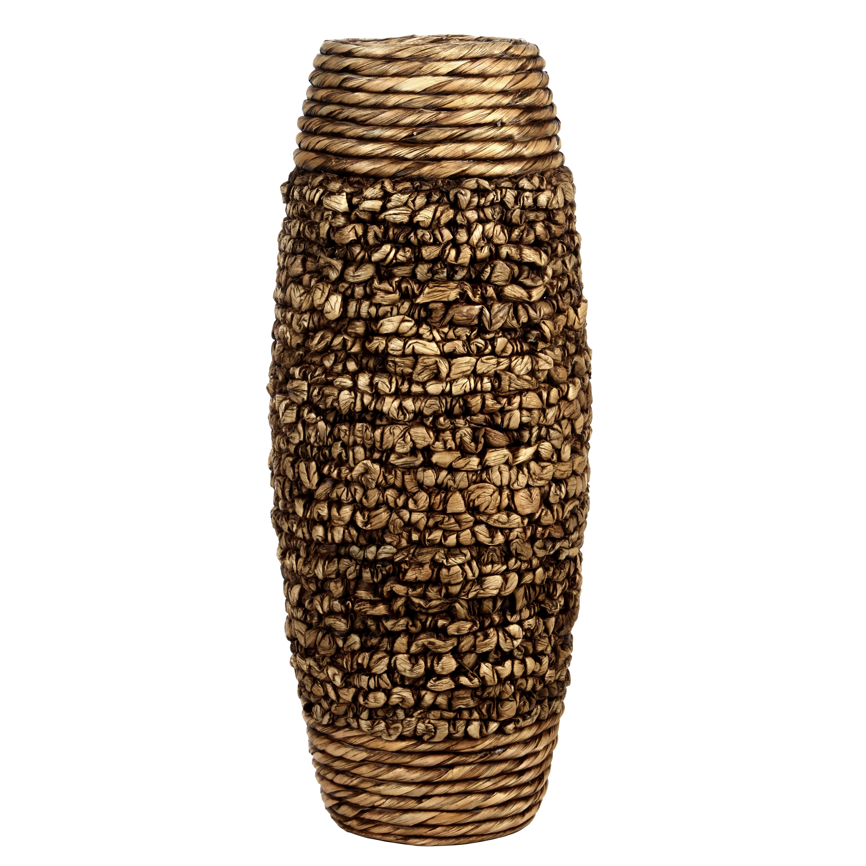 Elegant Expressions by Hosley Natural Water Hyacinth Vase, Brown